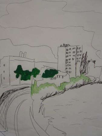 2008_vue grenoble fleuve_15x20.JPG